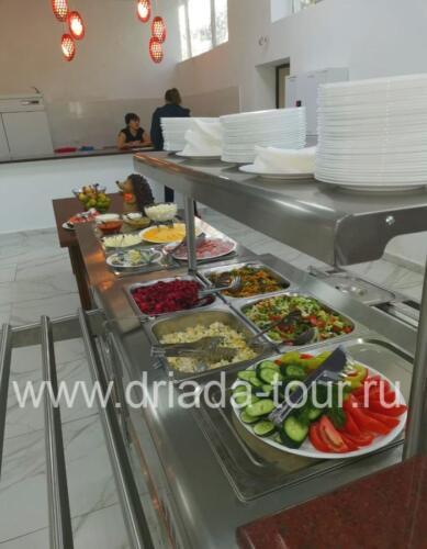Шведский стол в отеле Европа, Гагра, Абхазия